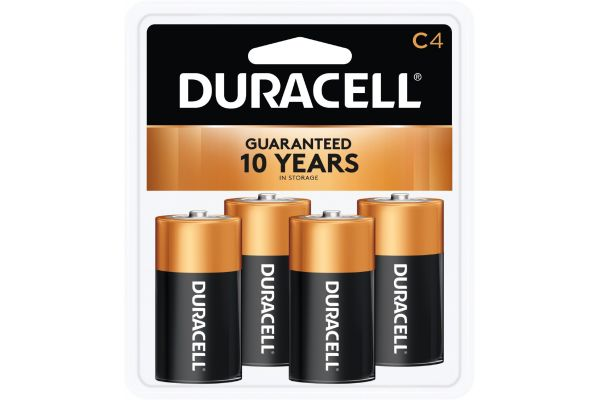 Large image of Duracell Coppertop C Alkaline Battery 4 Pack - DURMN1400R4ZX17