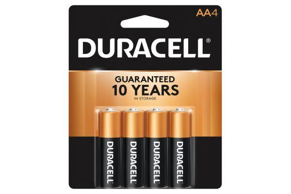 Large image of Duracell Coppertop AA Alkaline Battery 4 Pack - DURMN1500B4Z