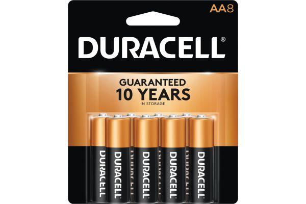 Large image of Duracell Coppertop AA Alkaline Battery 8 Pack - DURMN15B8PTPZ99
