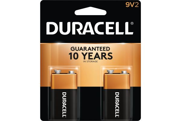 Large image of Duracell Coppertop 9V Alkaline Battery 2 Pack - DURMN1604B2Z