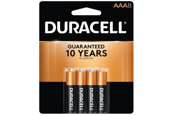 Large image of Duracell Coppertop AAA Alkaline Battery 8 Pack - DURMN24B8PTPZ99