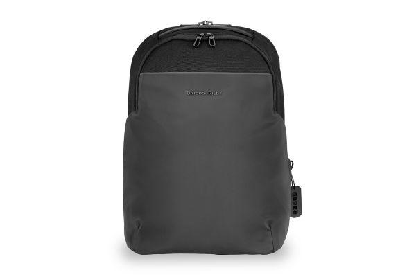 Large image of Briggs & Riley Black Delve Medium Backpack - DV120-4
