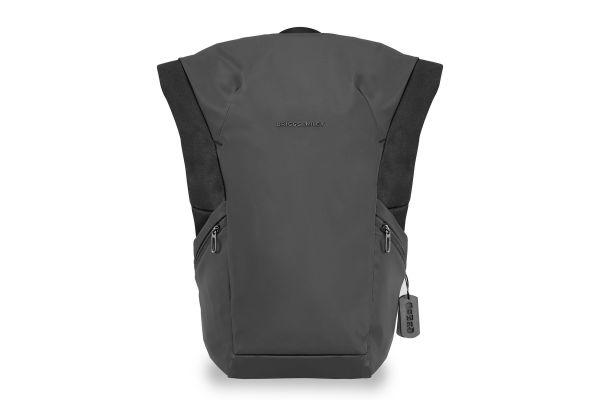 Large image of Briggs & Riley Black Delve Large Roll-Top Backpack - DV180-4