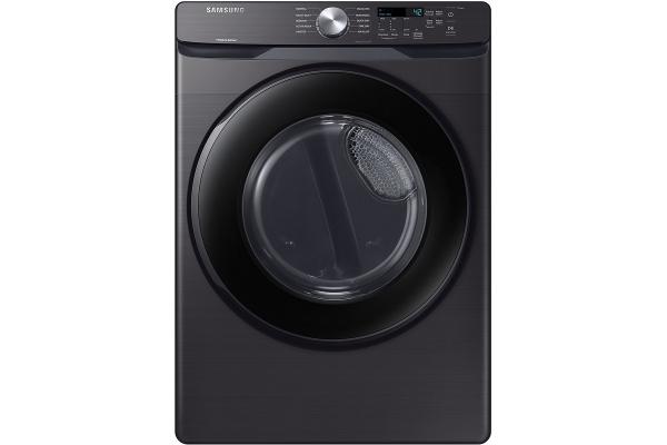Large image of Samsung 7.5 Cu. Ft. Fingerprint Resistant Black Stainless Steel Gas Dryer With Sensor Dry - DVG45T6000V/A3