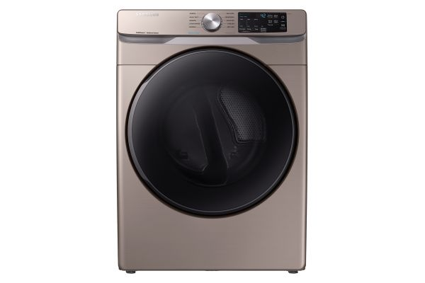 Large image of Samsung Champagne Electric Steam Dryer - DVE45R6100C/A3