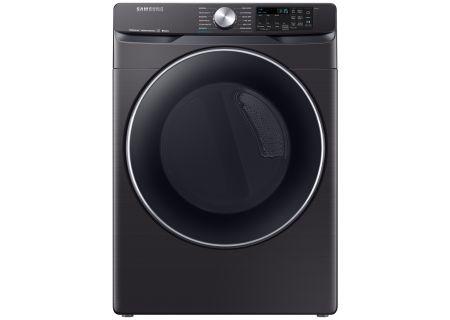 Samsung Fingerprint Resistant Black Stainless Steel Electric Steam Dryer - DVE45R6300V