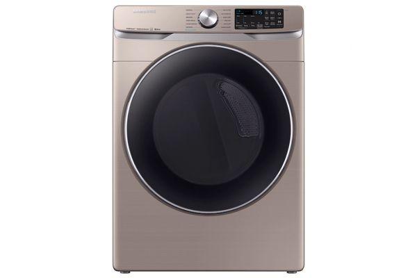 Large image of Samsung 7.5 Cu. Ft. Champagne Smart Electric Dryer - DVE45R6300C/A3