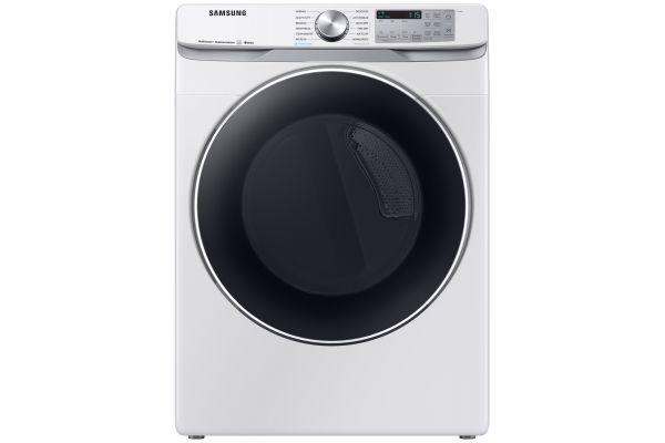 Samsung White Electric Steam Dryer - DVE45R6300W