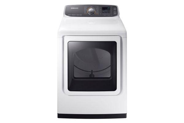 Samsung White Electric Steam Dryer - DVE52M7750W