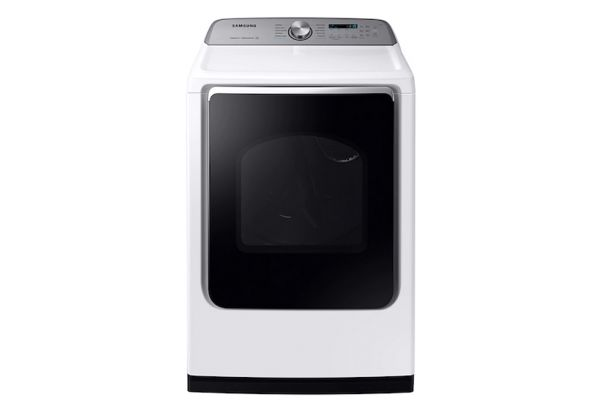 Large image of Samsung 7.4 Cu. Ft. White Electric Dryer - DVE54R7200W/A3