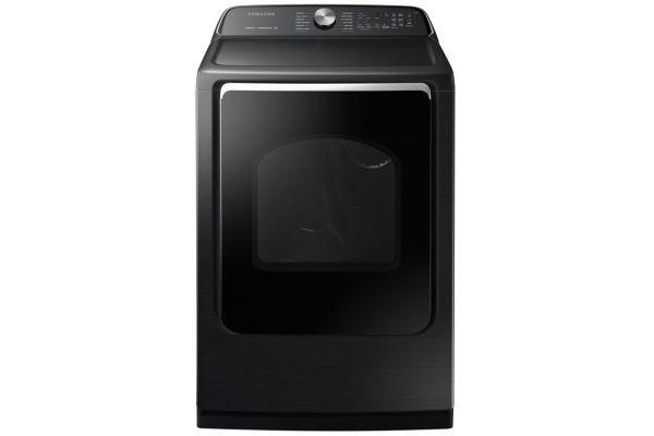 Samsung 7.4 Cu. Ft. Fingerprint Resistant Black Stainless Steel Electric Dryer - DVE54R7600V