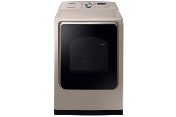 Large image of Samsung 7.4 Cu. Ft. Champagne Electric Dryer - DVE54R7600C/A3