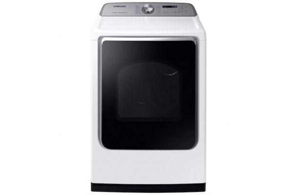 Samsung 7.4 Cu. Ft. White Electric Dryer - DVE54R7600W/A3