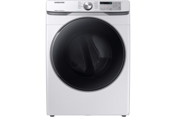 Large image of Samsung White Gas Steam Dryer - DVG45R6100W/A3