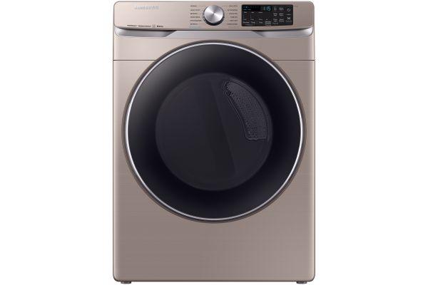 Samsung Champagne Gas Steam Dryer - DVG45R6300C