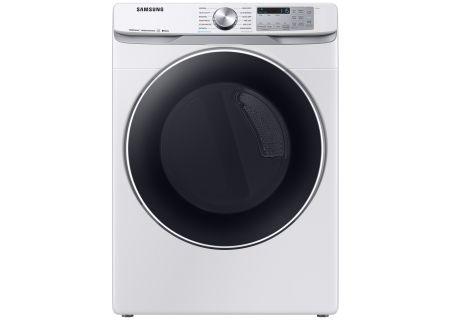 Samsung White Gas Steam Dryer - DVG45R6300W