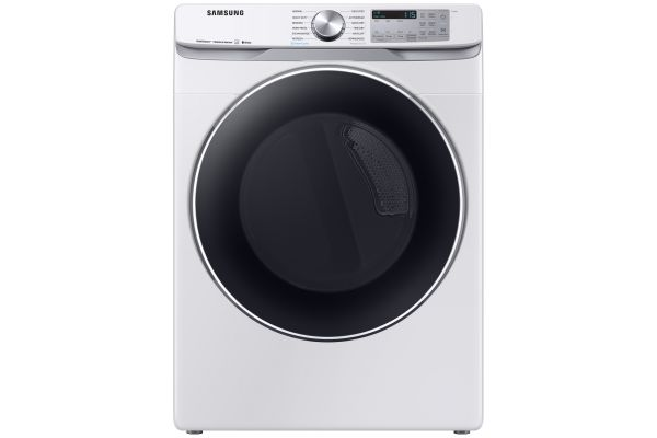 Large image of Samsung White Gas Steam Dryer - DVG45R6300W/A3