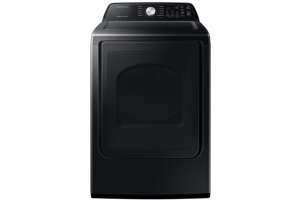 Large image of Samsung 7.4 Cu. Ft. Brushed Black Gas Dryer With Sensor Dry - DVG45T3400V/A3