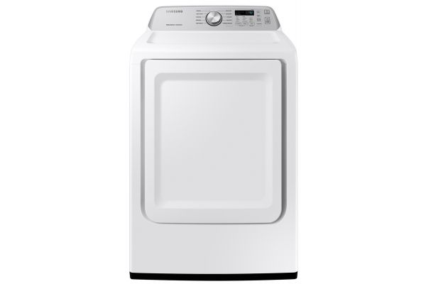 Large image of Samsung 7.4 Cu. Ft. White Gas Dryer With Sensor Dry - DVG45T3400W/A3
