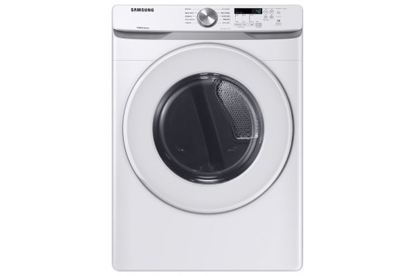 Large image of Samsung 7.5 Cu. Ft. White Gas Dryer - DVG45T6000W/A3