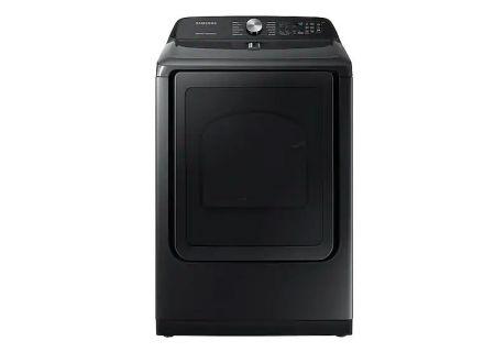 Samsung Fingerprint Resistant Black Stainless Steel Gas Steam Dryer - DVG50R5400V