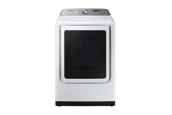Samsung White Gas Steam Dryer - DVG50R5400W