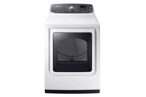Samsung White Gas Steam Dryer - DVG52M7750W