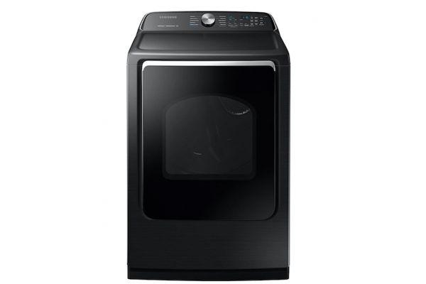 Large image of Samsung 7.4 Cu. Ft. Fingerprint Resistant Black Stainless Steel Gas Dryer - DVG54R7200V/A3