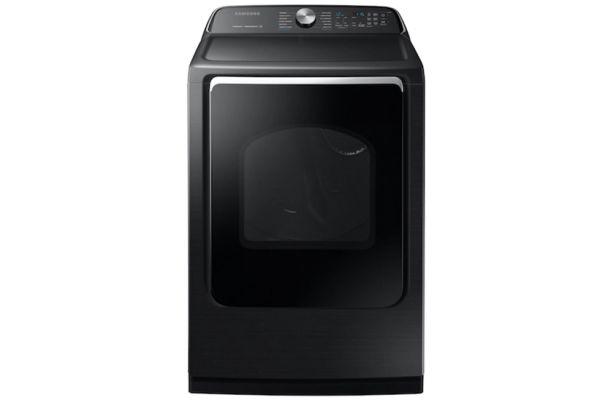 Samsung 7.4 Cu. Ft. Fingerprint Resistant Black Stainless Steel Gas Dryer - DVG54R7600V/A3