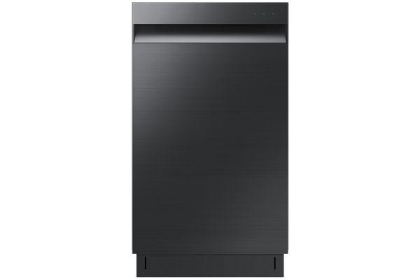 """Large image of Samsung 18"""" Fingerprint Resistant Black Stainless Steel Dishwasher - DW50T6060UG/AA"""