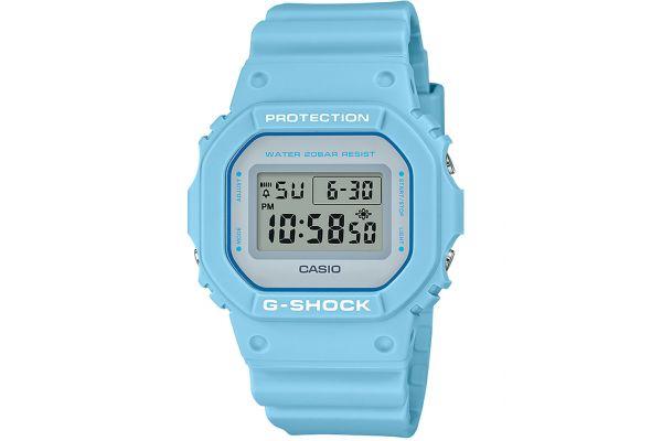Large image of G-Shock Resin Baby Blue Mens Digital Watch - DW5600SC-2