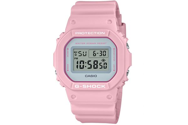 Large image of G-Shock Resin Pink Mens Digital Watch - DW5600SC-4