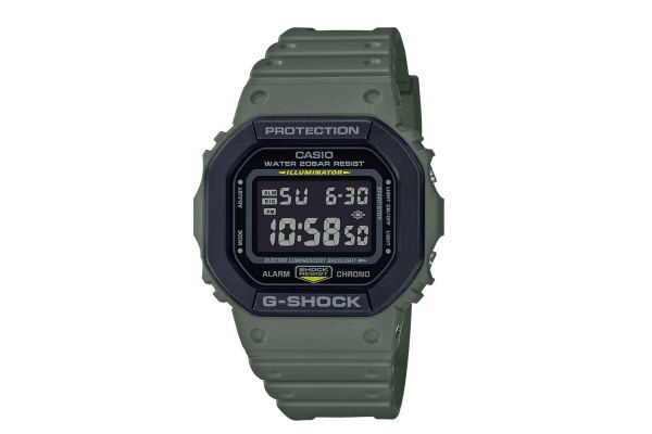 Large image of G-Shock Digital Military Green Mens Watch - DW5610SU-3