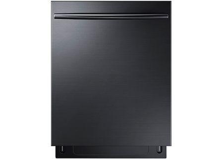 "Samsung 24"" Built-In Fingerprint Resistant Black Stainless Steel Dishwasher - DW80K7050UG"