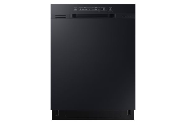 "Large image of Samsung 24"" Black Front Control Dishwasher With Hybrid Interior - DW80N3030UB/AA"