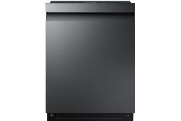 """Samsung 24"""" Fingerprint Resistant Black Stainless Steel Built-In Dishwasher - DW80R7060UG"""
