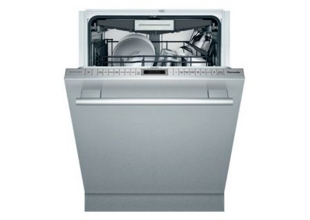"""Thermador 24"""" Stainless Steel With Masterpiece Handle Sapphire Dishwasher - DWHD770WFM"""