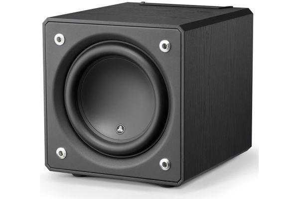 """Large image of JL Audio 10"""" Black Ash E-Sub Powered Subwoofer - 96276"""