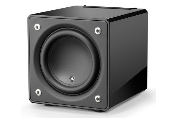 """Large image of JL Audio 10"""" Black Gloss E-Sub Powered Subwoofer - 96275"""