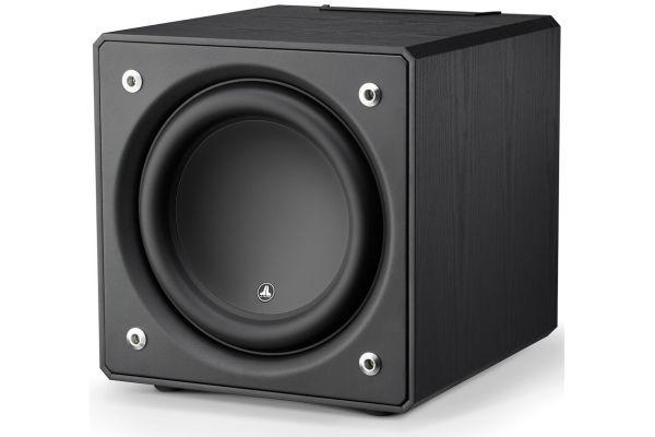"""Large image of JL Audio 12"""" Black Ash E-Sub Powered Subwoofer - 96280"""