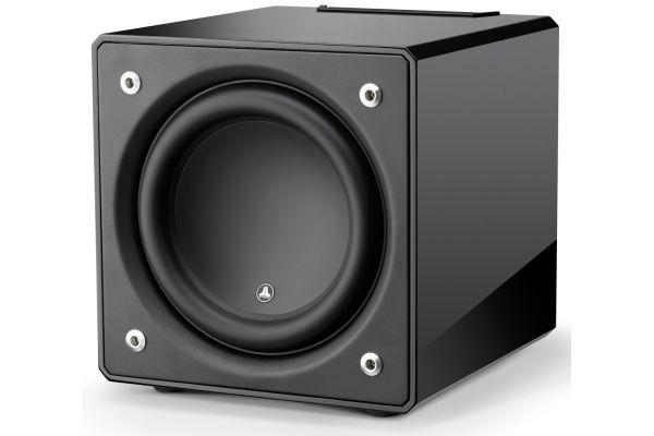 """Large image of JL Audio 12"""" Black Gloss E-Sub Powered Subwoofer - 96279"""
