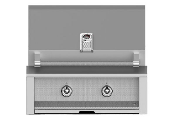 "Large image of Hestan 30"" Stainless Steel Built-In  All U-Burners  Liquid Propane Gas Grill - EAB30-LP"