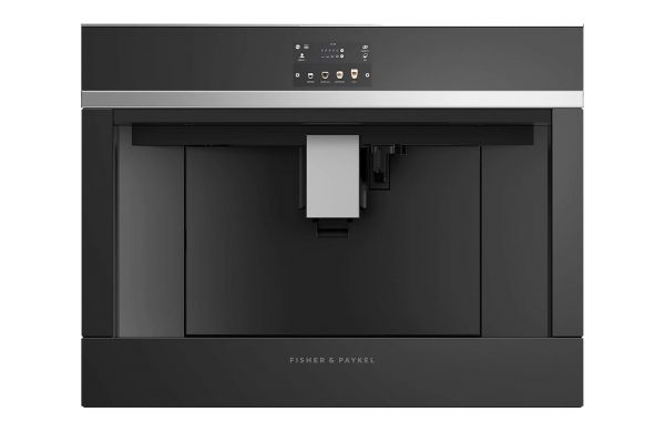"""Large image of Fisher & Paykel 24"""" Black Built-In Coffee Maker - EB24DSXB1"""