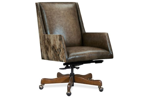 Large image of Hooker Furniture Home Office Rives Executive Swivel Tilt Chair - EC219-083