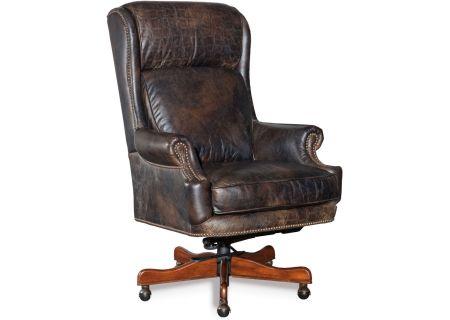 Hooker Furniture Family Brown Home Office Tucker Executive Swivel Tilt Chair - EC378-089