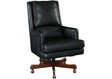 Hooker Furniture Black Home Office Wright Executive Swivel Tilt Chair - EC387-099