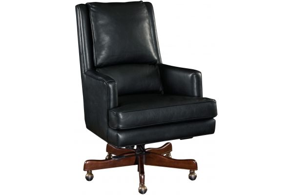 Large image of Hooker Furniture Black Home Office Wright Executive Swivel Tilt Chair - EC387-099