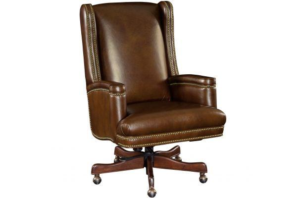 Large image of Hooker Furniture Home Office Wilmer Executive Swivel Tilt Chair - EC392-088