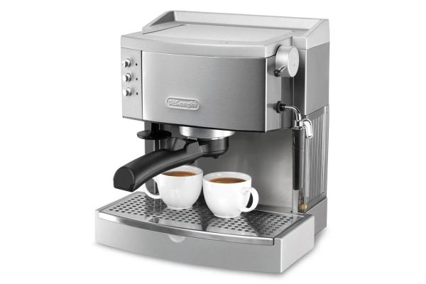 Large image of DeLonghi Stainless Espresso/Cappuccino Maker - EC702