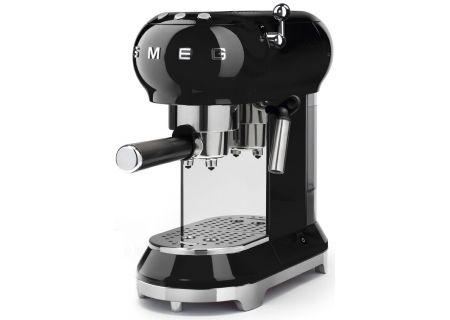 Smeg 50s Retro Style Black Espresso Machine - ECF01BLUS